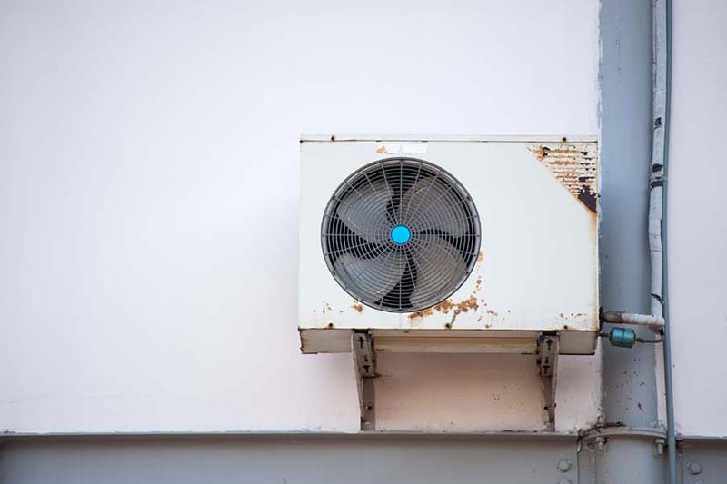 Air Conditioning Equipment outside of an Hold House